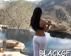 Free and easy black angel impaled on dick
