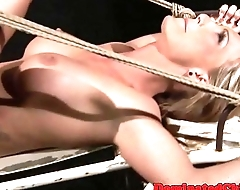 Dominated eurobabe gets fucked by maledom