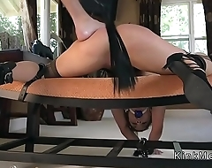 Dude strapped and anal fucked hottie