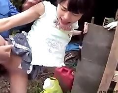 Japanese gangbang hard fucked-mc