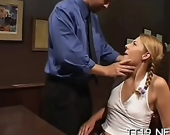 Teen'_s taut cunt drilled hard