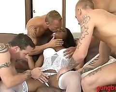 Big boobs ebony irritant banged by white guys