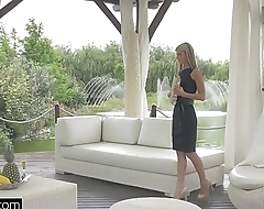 Glamkore - Babe Gina Gerson in luxurious DP session