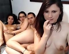 Amateur Latinas live sex foursome