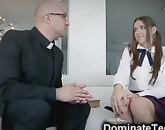 Pastor Spanks Teen Ass with a Bible!