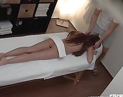 Beautiful Long Haired Teen Having Sex with Masseur