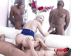 Crazy blonde slut Helena Moeller 100% DAP fucking with anal fisting foreplay