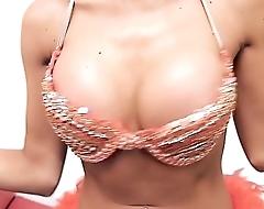 Perfect ASS Busty TEEN High Heels G String Big Nipples!