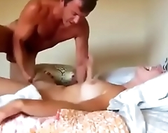 Sexy blonde sucking and fucking on real homemade
