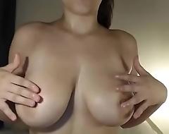 Amateur chat girl teases big tits