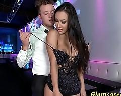 Glamcore milf pornstar banged in public