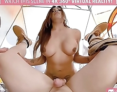 TS VR Porn-Jessi Dubai Is taking it hard in the ass and rocking the tent Outdoor