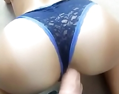 www.Adddictedpussy.com - Cute Butt With Panties Gets her Ass Fucked