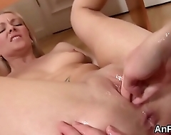 Spicy lesbo sex kittens are spreading plus fist fucking anals