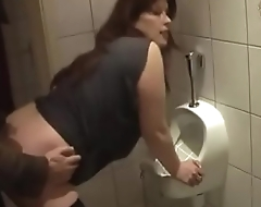 German Mom get good Fuck from Young Son on the toilet