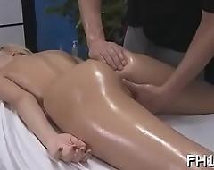 Lovely honey loves massage