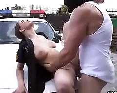 www.Adddictedpussy.com - Lady Officer Fucks Masked Robber