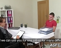 Female agent exposes fucking skills