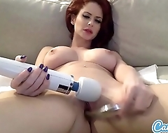 Emily Addison big Bristols redhead masturbating with yoke pretentiously toys.