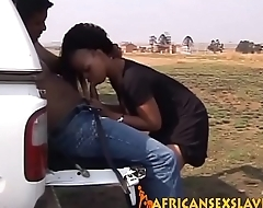 Adorable ebony coition slave is taking in a massive dick with her tight cunt