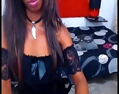 ebony black teen stripping in webcam great tits