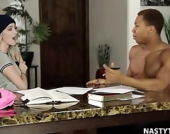 Black monster cock as a substitute for of study! - Iris Rose and Ricky Johnson