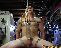 BDSM sub promised and toyed before jerking