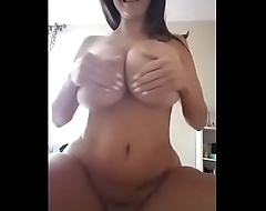 Super big boobs milf giant lotion in front be expeditious for camera