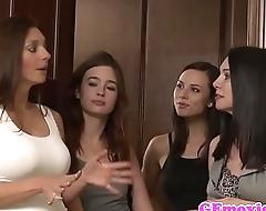 Lesbian couple enjoying facesitting personate