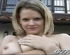 Seductive breasty hottie gets nailed