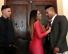 Husband Watches Latina Wife Swing