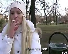 Public Pickups - Teen Amateur Euro Babe Seduces Tourist For Blowjob 15