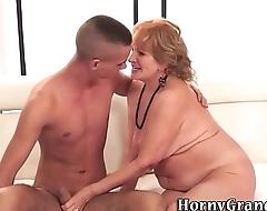Granny sucks for spunk