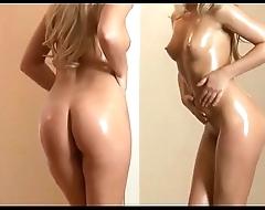 Nudie Nude Sexy Blonde Swain In Front Of Mirror - streaptease.net