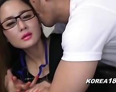 KOREA1818.COM - UPTIGHT Korean Lady in Glasses
