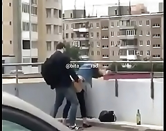teen coupler caught having sex at terrace seen by public