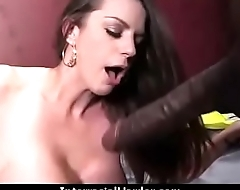 White girl convinced to swallow cum from black cock 6
