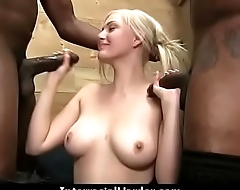 White ecumenical convinced to swallow cum from black cock 28