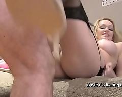 Busty mart in stockings bangs in office