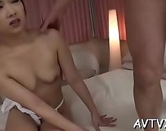 Electrifying oriental pussy gratifying