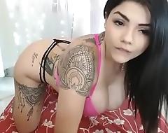 Super big titties Latin webcam porn show