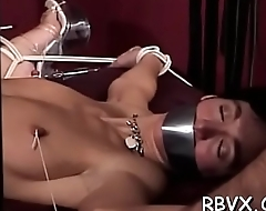 Dirty slut spanked and bounded
