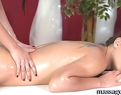 Massage Rooms Young perfect bodied lesbians finger fuck their tight holes