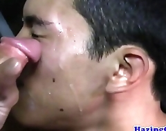 Amateur straighty facialized on tap frat hazing