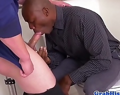 Election boss anal fucks employee in toilets