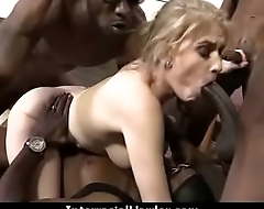 White Girl Spit Roasted By Big Black Cock 2