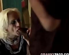 Granny Sucks Big Black Cock