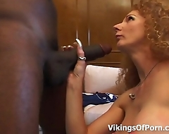 Skinny MILF Pussy Against A Chubby Black Cock