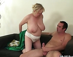 Shove around granny fucks son-in-law after his wife leaves