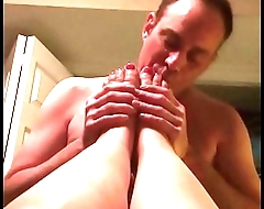 Sucking Kacy'_s toes
